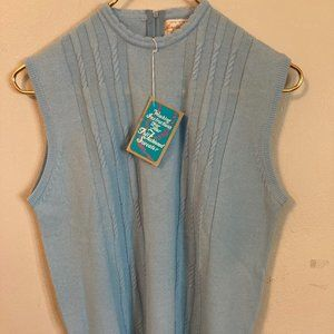 Tops - NWT Vintage 1970's Sweater Vest Cable Knit